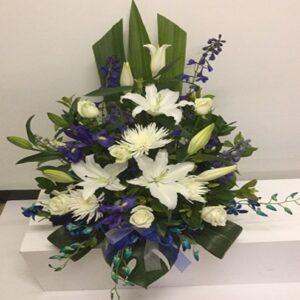 blue-white-church-arrangement
